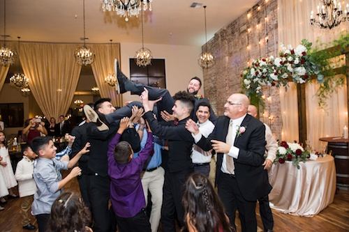 Mexican Tradition Wedding Groom Toss