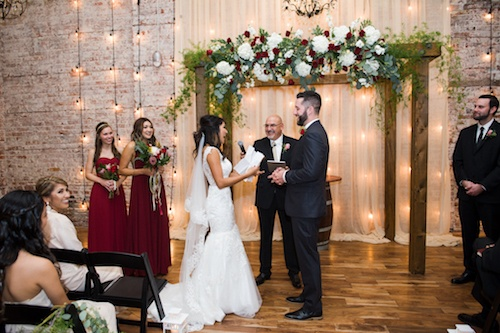 Bride Gives Written Personal Wedding Vows