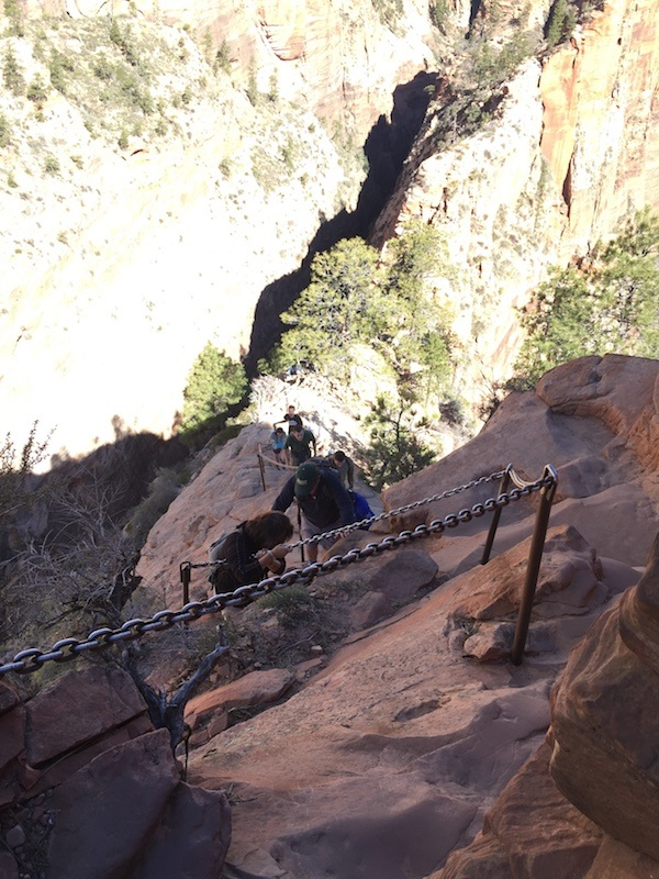 Chains at Angels Landing