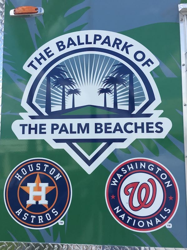Ballpark of the Palm Beaches Houston Astros Spring Training Sign