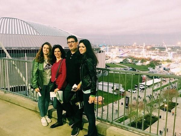 Familia Mendez at Houston Rodeo