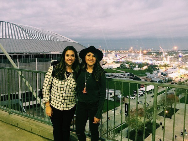 Quimi and Keila at Houston Rodeo