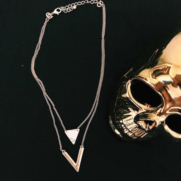 Lani Accesorios Marble Necklace