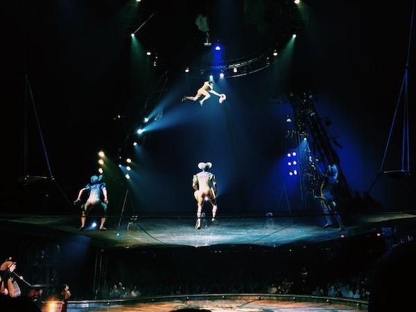 Kurios Cirque Du Soleil Houston Acrobats On Trampoline