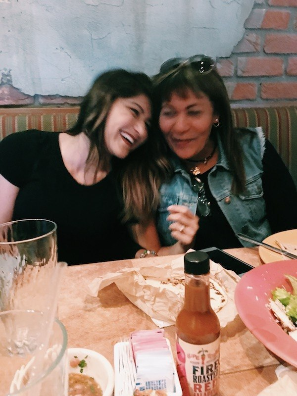 Laughing Eating Tacos