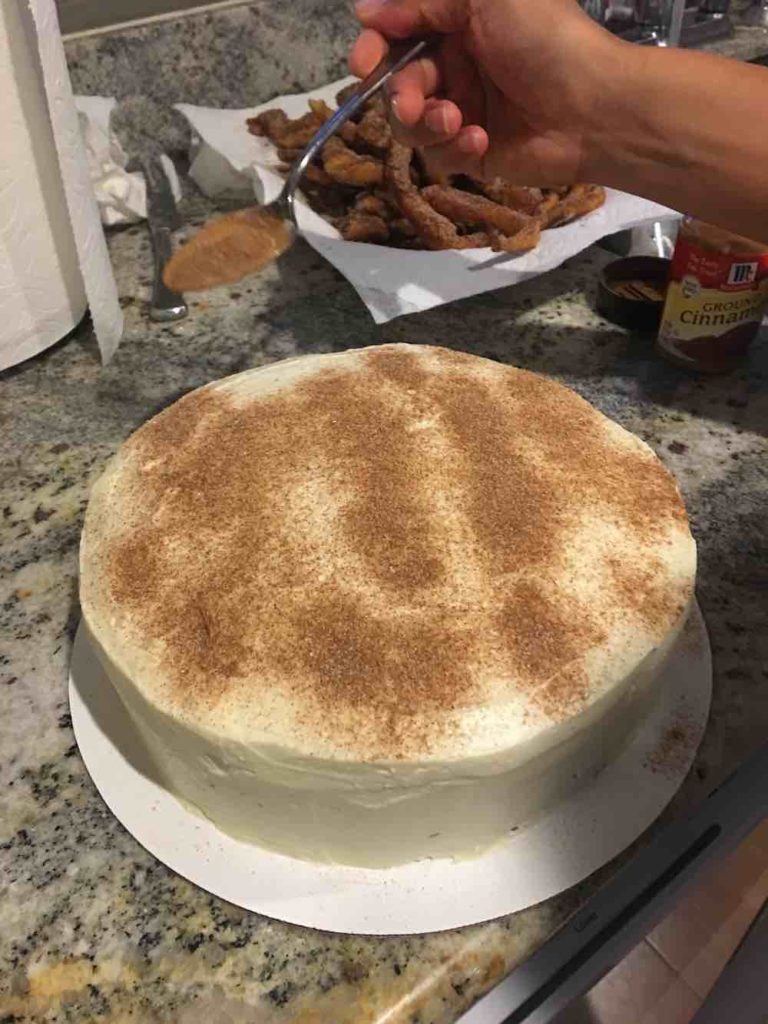 Churro Cake Cinnamon Sugar Topping