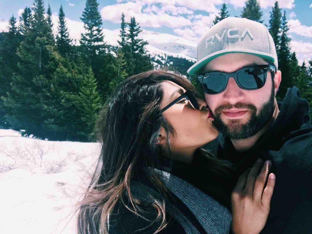 Couples Hiking Selfie