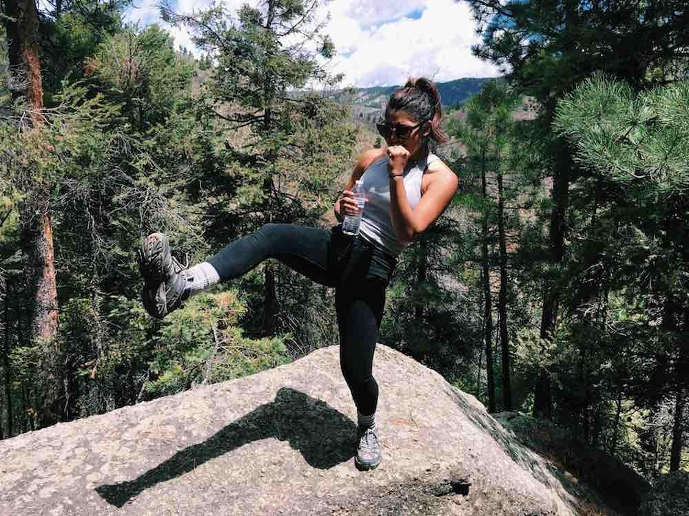 Karate Kid On A Hike In Colorado