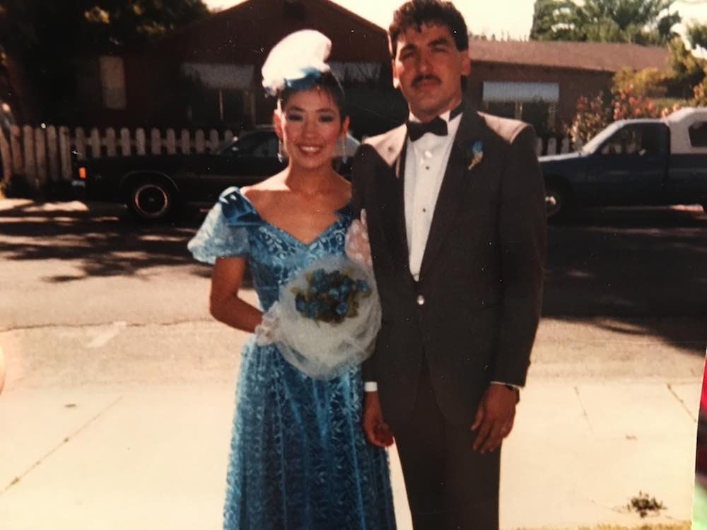 Papi And Mom Dressed Up in the 80s