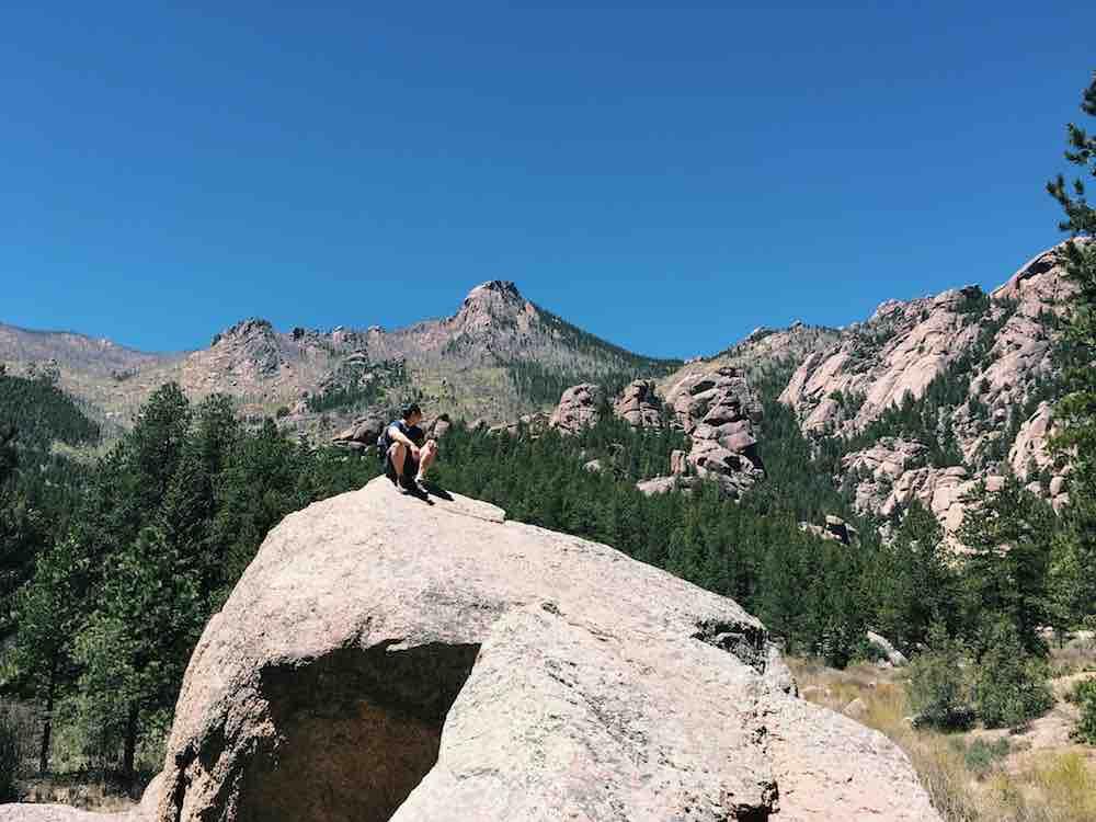 Rock Sitting in Colorado