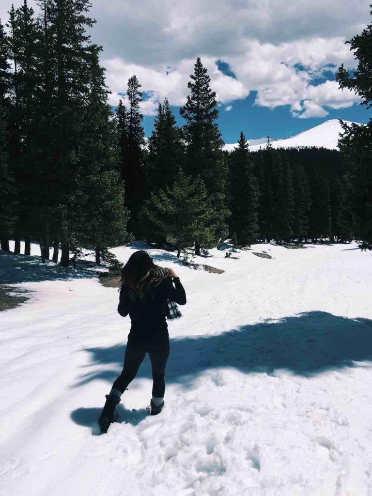 Hiking In Colorado Snow
