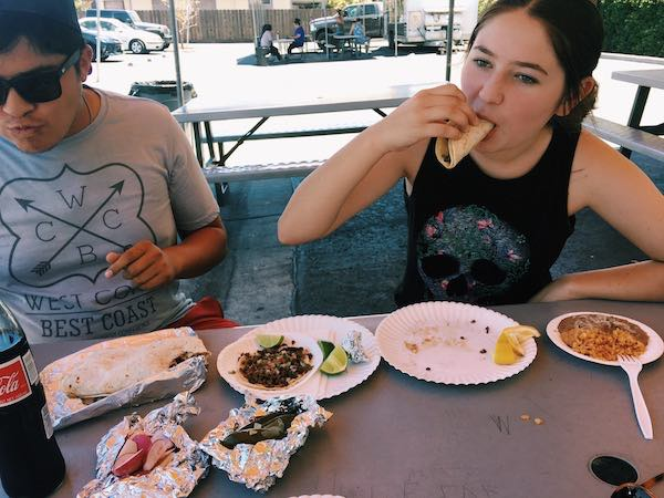 she loves tacos
