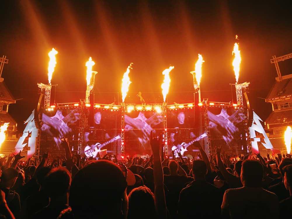Metallica Pyrotechnics