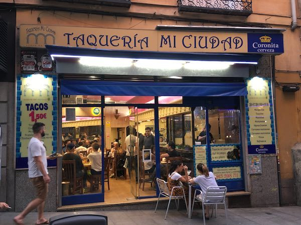 Taqueria Mi Ciudad on the Outside