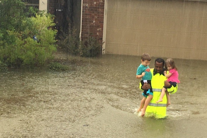 Houston Flood Rescue Hurricane Harvey