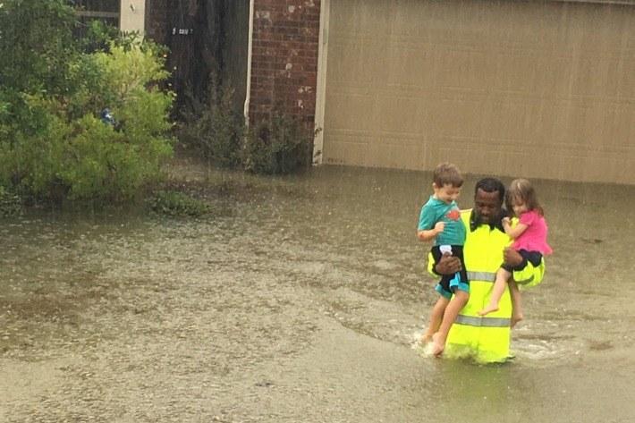 Houston Flood Rescue Hurricane Harvey