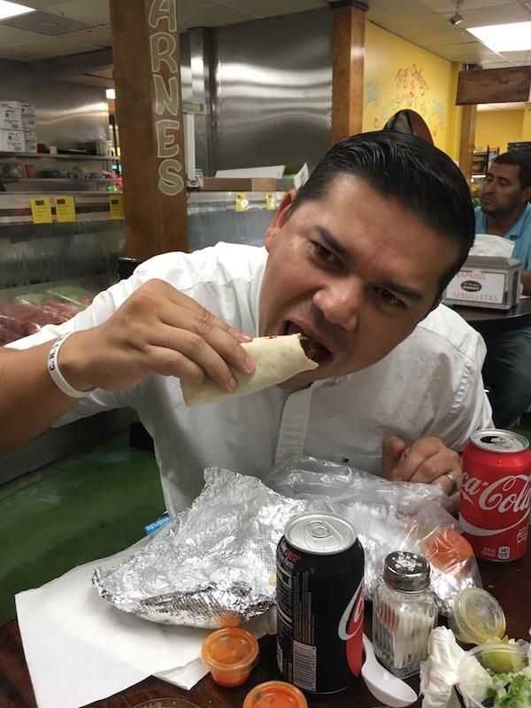Daniel Eating Tacos