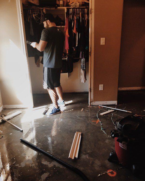 Removing Door Frames Hurricane Harvey Relief
