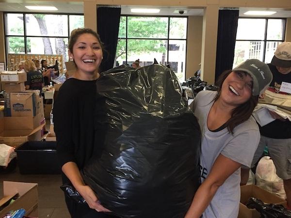 Sorting Donations Hurricane Harvey Relief