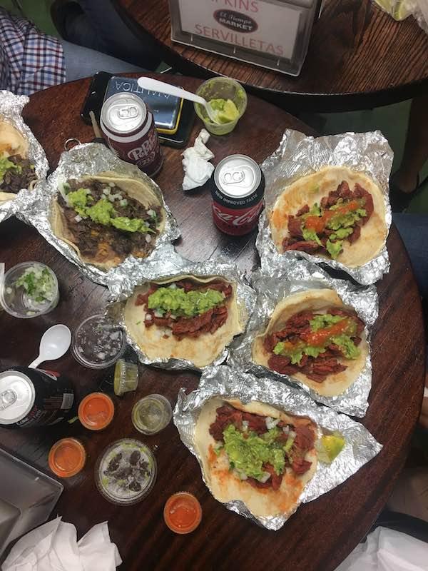 Delicious Tacos From El Tiempo