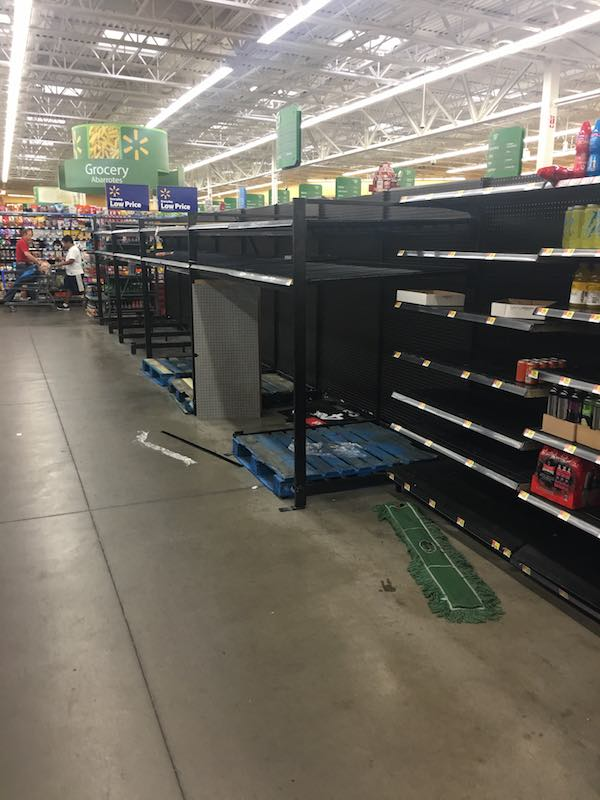 Houston Harvey Grocery Stores