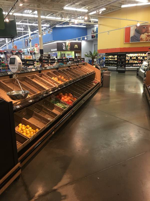 Empty grocery stores in Houston due to Harvey