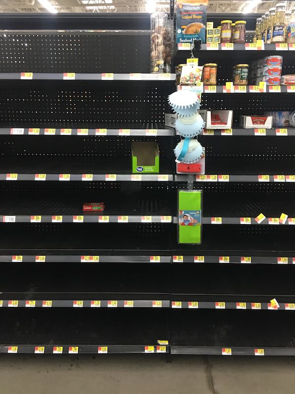 Houston Grocery Stores due to Harvey