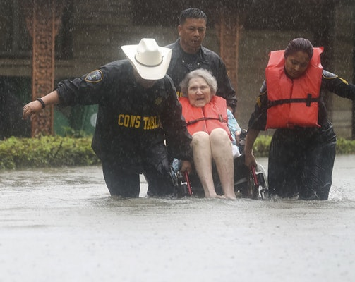 Houston Rescues In Hurricane Harvey