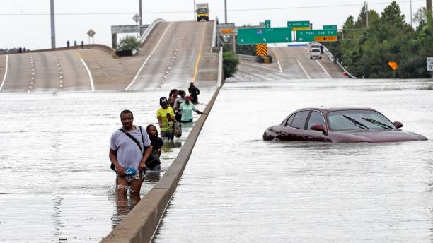 Flooded Highway Houston Hurricane Harvey