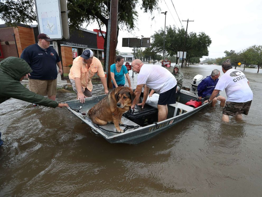 Houston Rescues During Hurricane Harvey