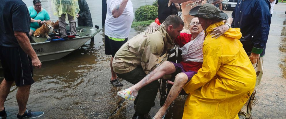 Rescues During Houston Floods In Hurricane Harvey
