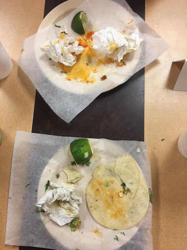 Empty Plates After Tacos