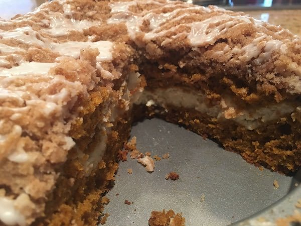 Fall Dessert Recipe - Pumpkin Cream Cheese Coffee Cake 8