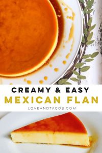 Creamy And Easy Mexican Flan Pinterest Image