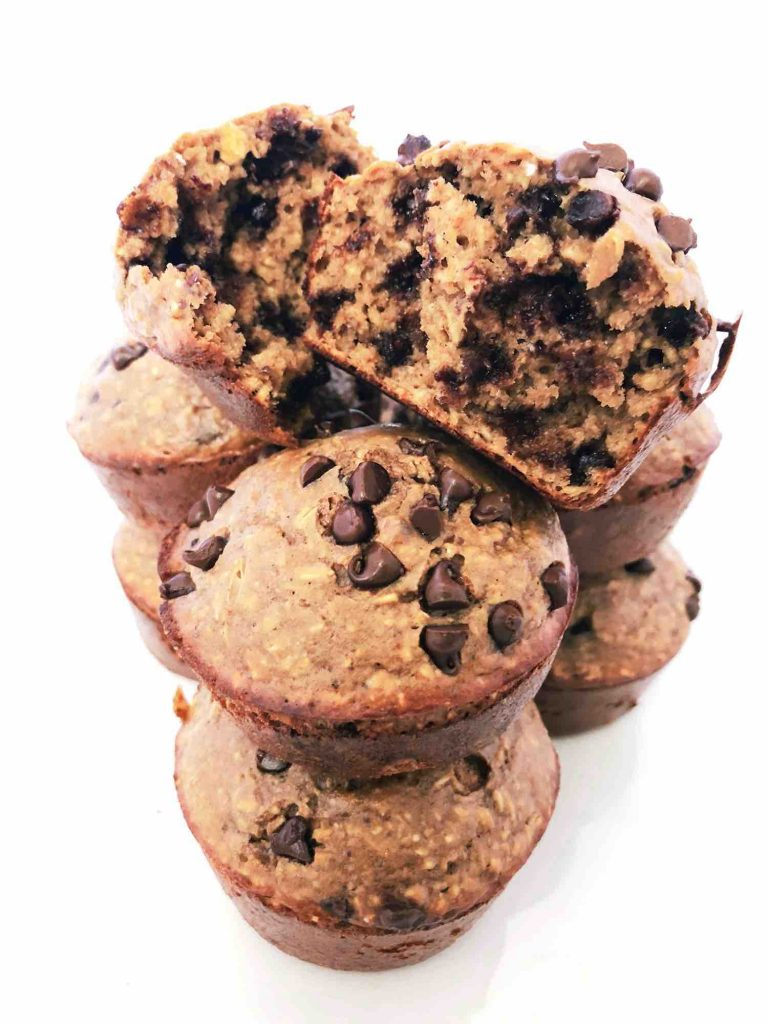 Oatmeal Chocolate Protein Muffins Recipe - Love And Tacos