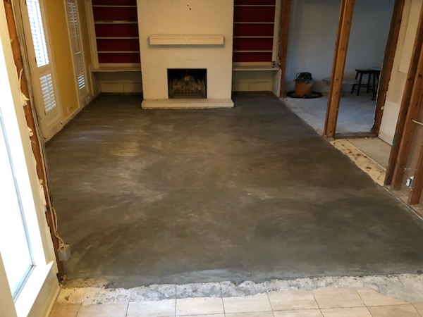 Dried Cement In Living Room Home Renovations