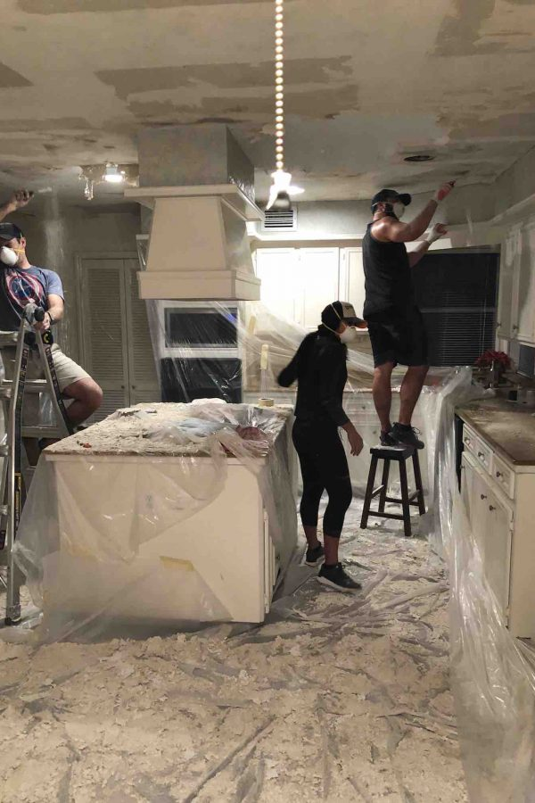Popcorn Ceiling Removal DIY