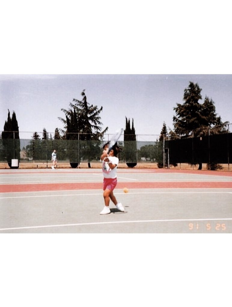 Baby Quimi Playing Tennis