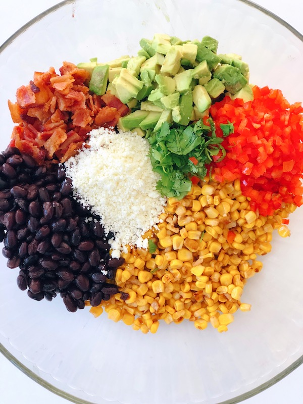 These are all the ingredients you need to make an epic Mexican Corn Salad.