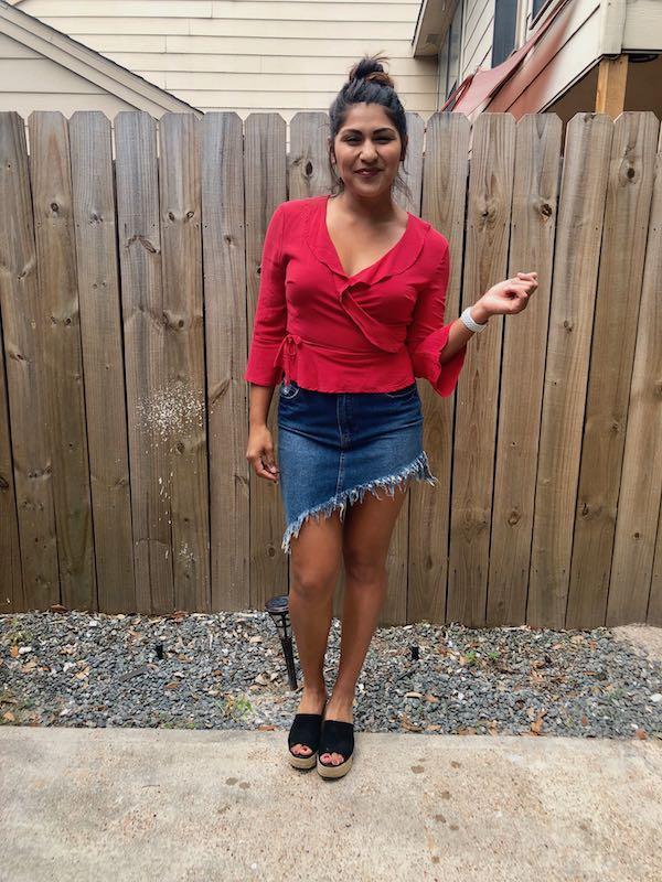 A good summer jean skirt is a must!
