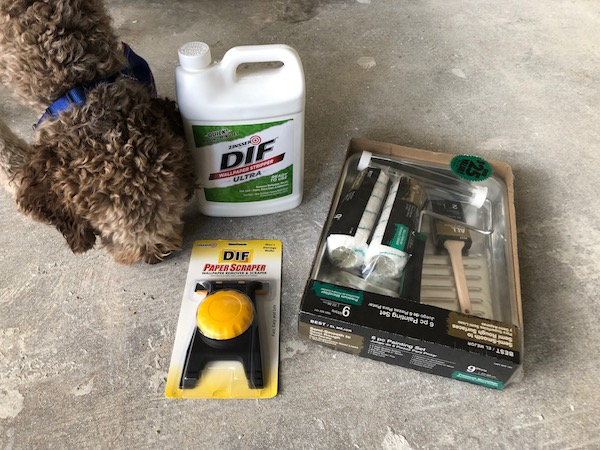 These are the supplies you will need to remove wallpaper.