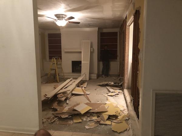 Living Room Wall Demo